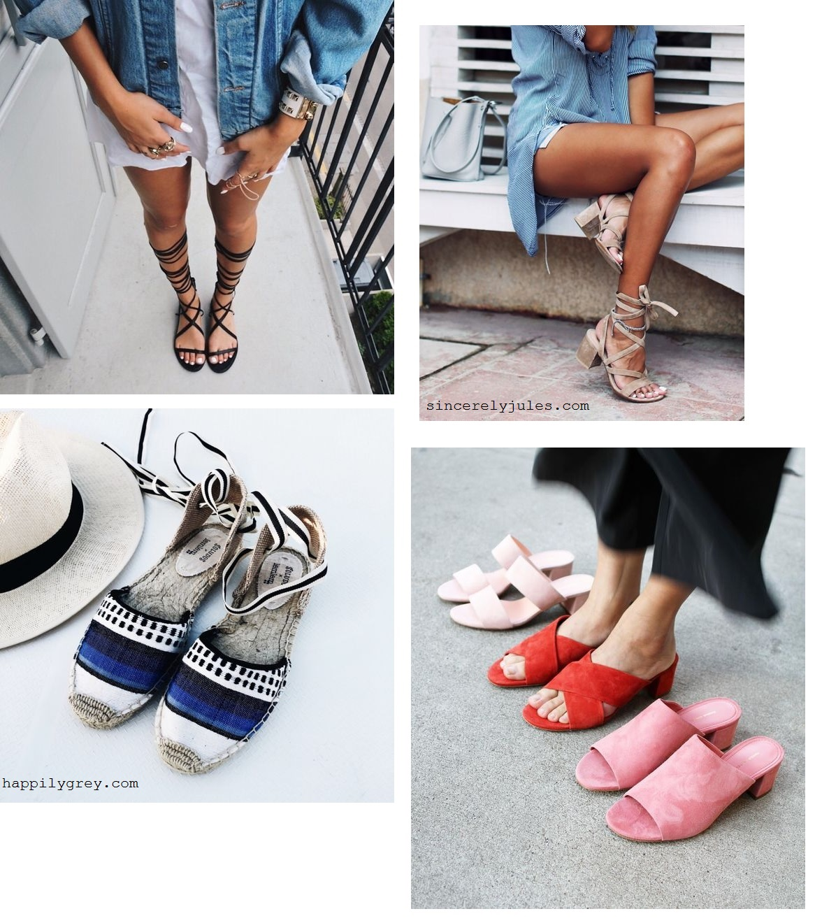 4. Summer vacation shoes 2016
