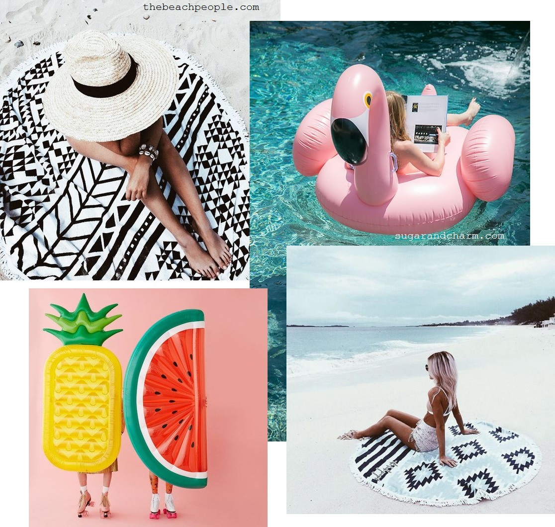 8. Beach towel and pool floats