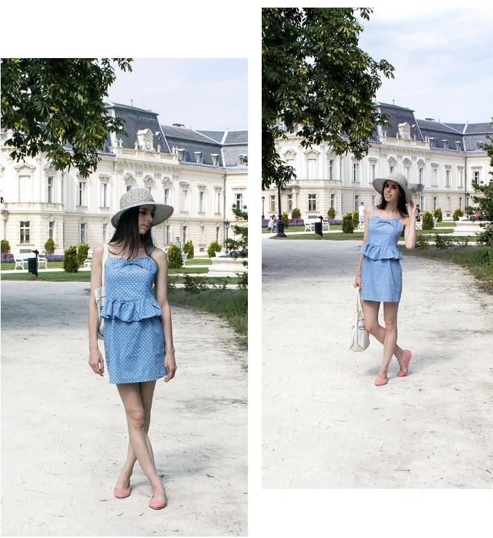 Polka dress montage