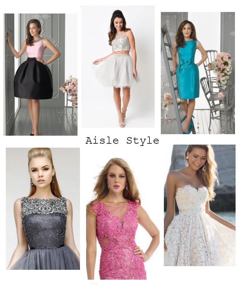 Aislestyle short prom dresses