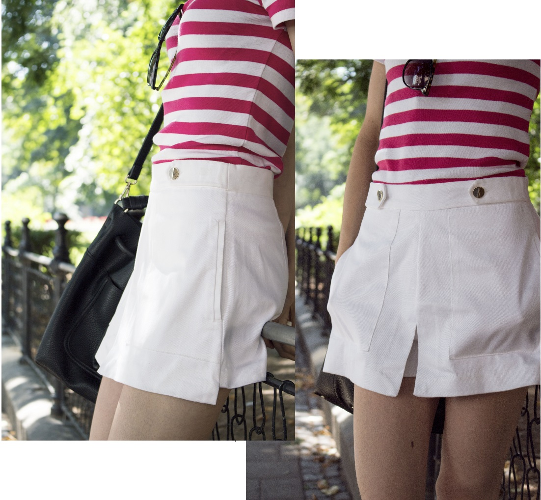 5 Zara white skirt short