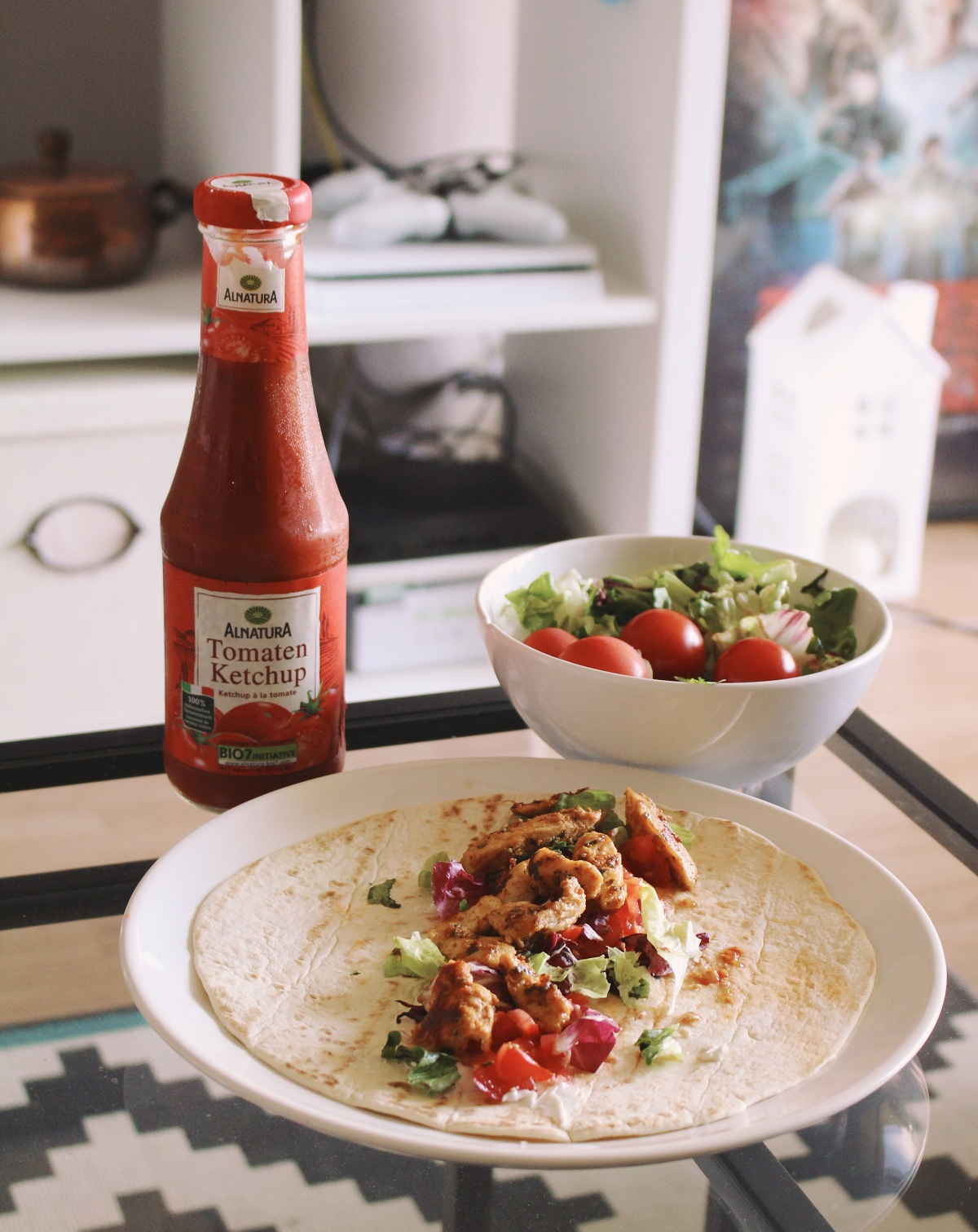 Summer chicken wrap – easy & quick