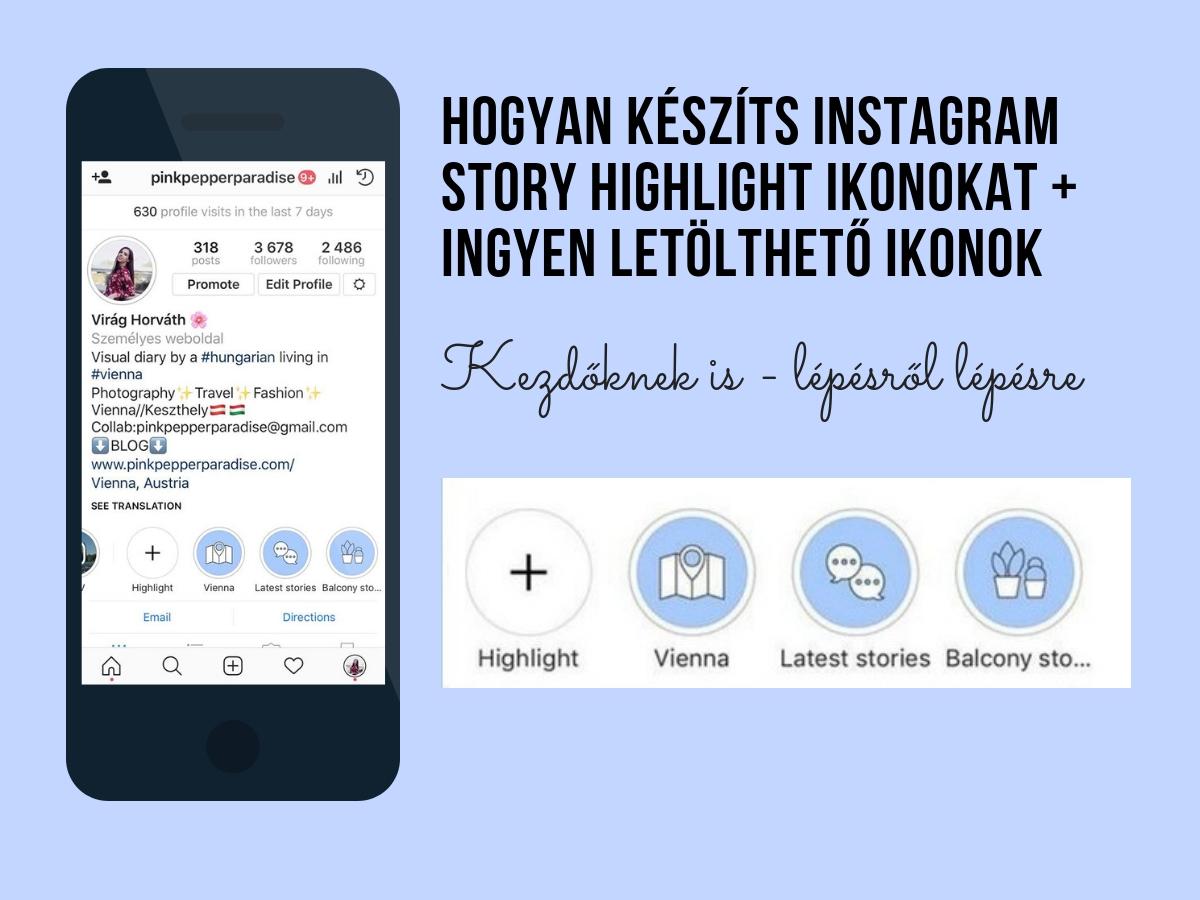 Hogyan készíts instagram story highlight ikonokat ingyen letölthető