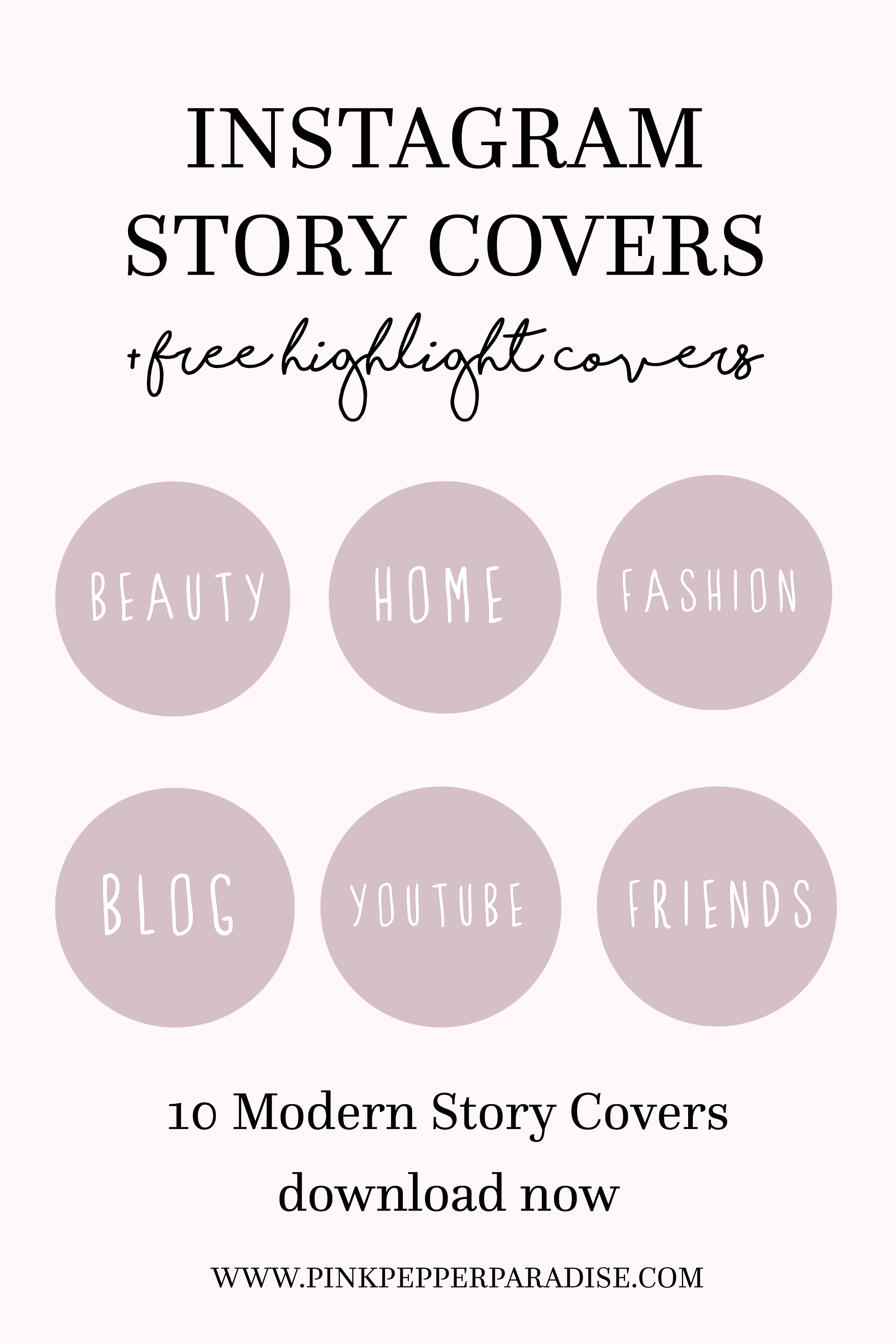 How To Use Instagram S Highlights Free Instagram Highlight Covers Pink Pepper Paradise